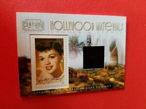 JUDY GARLAND WORN RELIC SWATCH MATERIALS & STAMP CARD #d250 WIZARD OF OZ DOROTHY