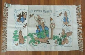 """New with Tag! Beatrix Potter Peter Rabbit 37"""" x 24"""" Nursery Rug by Toy Works"""