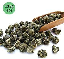 tealyra Imperial Jasmine Dragon Pearls Green Tea Loose Leaf, 4 oz.