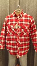 Vtg Pine Grove Quilted Lumberjack Plaid Flannel Shirt NWT sz L rg