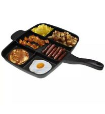 1x Magic Pan Non-Stick Multi-Section 5-in-1 Frying Grill Hob Magicpan UK SLR