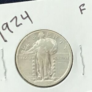 1924 Standing Liberty Silver Quarter  E8860