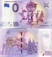 Comics Station Antwerpen Theme Park 0 Euro Souvenir Note 2018 Series 1 Antwerp