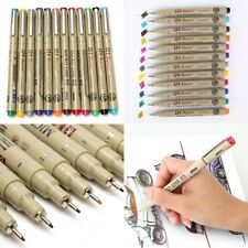 0.5 Art Manga Fine Point Copic Graphic Sketch Drawing Writing Marker Pen 12Color