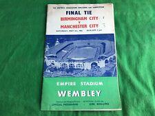 Final Tie Birmingham City v Manchester City May 5th 1956 Programme RDL595