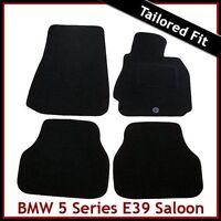 BMW 5-Series E39 1995-2004 1-eyelet Tailored Carpet Car Floor Mats BLACK