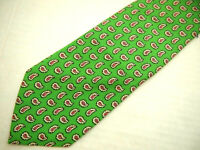 Polo Ralph Lauren Mens Necktie Tie Bright Green Pink Mini Paisley 60""