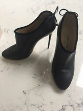 Jimmy Choo Black Leather Low Boots Size 39