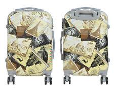 Maleta pequeña para cabina rígida fantasia sellos 4 ruedas dobles 360º equipaje