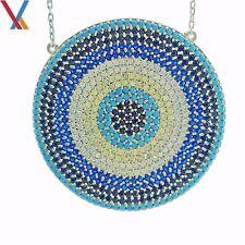 Evil Eye Pendant Turkish Nazar Greek 14k Gold Plated Sterling Silver Necklace N1