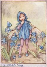 Flower Fairies: The Scilla Fairy Vintage Print c 1930 Cicely Mary Barker