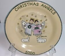 "Home & Garden Party Usa Pottery Stoneware ""Christmas Angels 2000"" Dinner Plate"
