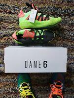 BRAND NEW adidas Dame 6 size 8.5 UNWORN coral signal green black NBA Blazers