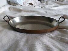 """Mauviel 14"""" X 2"""" Depth Williams Sonoma Copper Pan Pot Stainless"""