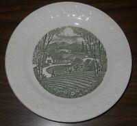 "Vintage Homer Laughlin Green Pastoral Taylor Smith & Taylor 6-1/2"" plate #4-23"