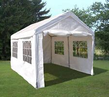 Zelt Palma 3x4m PE weiß Stahlgestell mit Fenstern Partyzelt Garten Pavillon