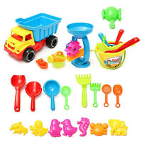 Beach Sand Play Toys Set 21pcs/set Bucket Rakes Sand Wheel Watering Sand Toys MO