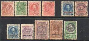 Crete: 1900 vals ex SG 1-9B used/unused