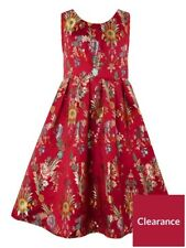 Monsoon Niñas Hermoso Vestido Talla 14-15 Folk Jacquard