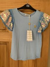 NEW Angels Face Girl Louise Baby Blue Colour Top - Age 8 - 9 Years