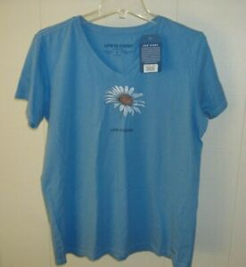 New w/Tags ~ Life is Good Women's Crusher Short Sleeve Powder Blue Tee L