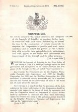 Keighley.1908.Act of Parliament.Construction of waterworks.Omnibus.Electricity