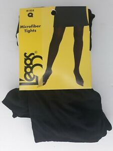 LEGGS SILKY TIGHTS, BLACK ,Large(Q), Black, Size Large (Q)