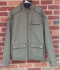 Tommy Hilfiger Jack Reversible Coat Mens Large Blue Olive Green