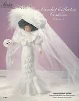 1905 Wedding Gown Vol. 1 Paradise Crochet Collector Costume Fashion Doll Pattern