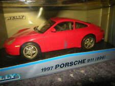 1:18 Welly Porsche 911 tipo 996 1997 rojo/red en OVP