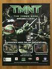 TMNT PS2 Gamecube 2007 Print Ad/Poster Official Teenage Mutant Ninja Turtles Art