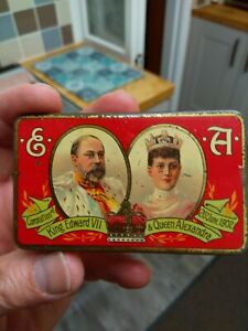 Cadbury Sample Tin Coronation Edward V11