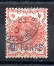 British Levant 1893 40pa on 1/2d good used SG7 WS9172