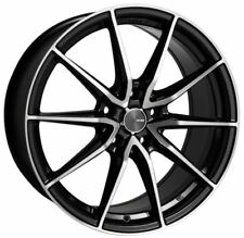 18x8 Enkei Rims DRACO 5x100 +45 Black Rims Fits Brz Impreza Neon Tc Golf