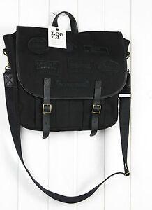NEW LEE 101 HEAVY DUTY BLACK BAG MESSENGER Shoulder 20% LEATHER