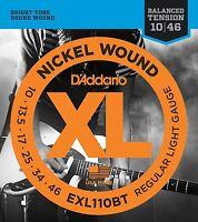3 Sets D'Addario EXL110BT Electric Guitar Strings 10-46 Balanced Tension Light