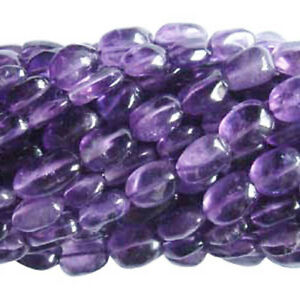 Purple Amethyst Beads Oval Approx 7x10mm-10x12mm Strand Of 26+