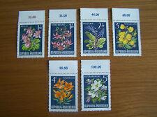 AUSTRIA,1966 ALPINE FLORA,6 VALS,U/MINT,EXCELLENT.