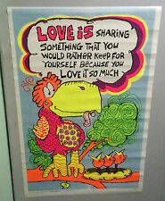 original vintage black light poster love is bird mother babies 1970 Artko pin-up