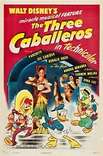 The Three Caballeros movie poster print  : 11 x 17 inches - Donald Duck poster