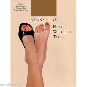 Berkshire Ultra Sheer Control Top Toeless Utopia Pantyhose Size Queen 1X-2X