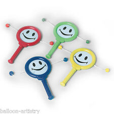 12 Children's Smiley Party Favours Loot Gifts Plastic Slide Drums Games Toys