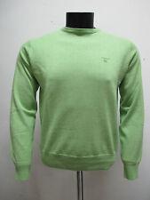 GANT men s sweater cotton crew-neck 83071 Colour Green tg. 27a0e8a87a