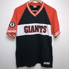 Mitchell & Ness San Francisco Giants Jersey Shirt Men's Size L Black Orange MLB