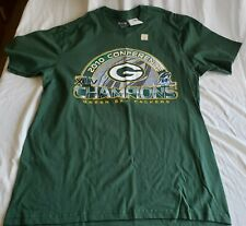 """Brand new Reebok brand, """"PACKERS 2010 CONFERENCE CHAMPIONS"""" t-shirt in size XL"""
