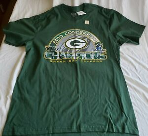"Brand new Reebok brand, ""PACKERS 2010 CONFERENCE CHAMPIONS"" t-shirt in size XL"