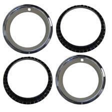 14 X 7 Chevy Steel Rally Wheel Rim TRIM Beauty RING - Stainless Steel - SET