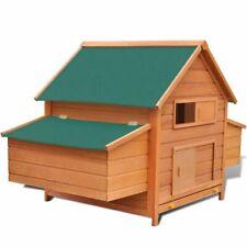 vidaXL Chicken Coop Wood 157x97x110cm Hen House Poultry Shelter Cottage Nest
