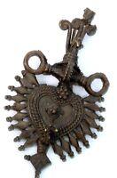 Antique Rare Shiva linga, Nandi Figure brass carved tribal Jewellery. G18-9 US
