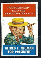 MAD Magazine Alfred E. Neuman Trump Biden For President Executive Branch Stamp !